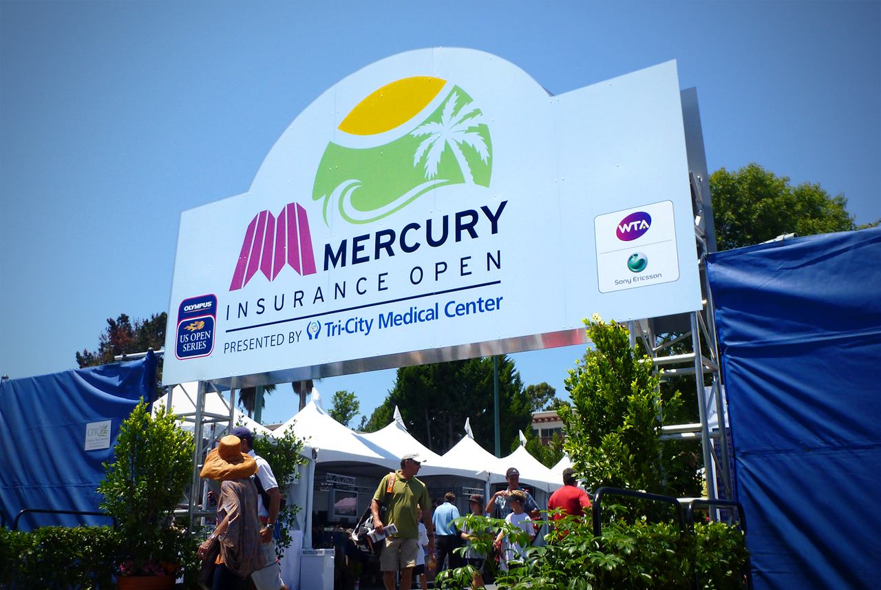 Mercury Independence Open event signage