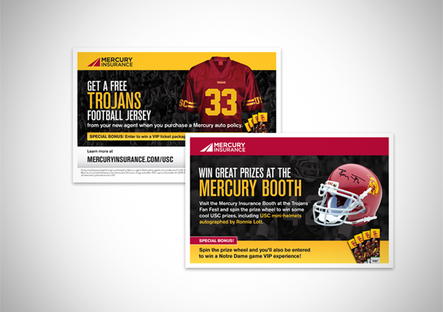 Mercury USC Football flyers