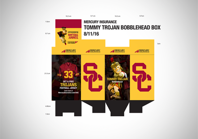 Mercury USC Football package design
